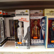 Barack Obama and his wife Michelle Bobbleheads on display - 图库照片