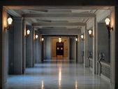 Long Empty Hallway in San Francisco City Hall — Stock Photo