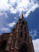 Parish Church with clouds and nice sky — Stock Photo