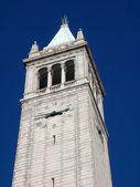 California campanile clock tower, the Sather Tower — Stock Photo