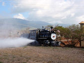 Sugar Cane Steam Train lets off steam — Stock Photo