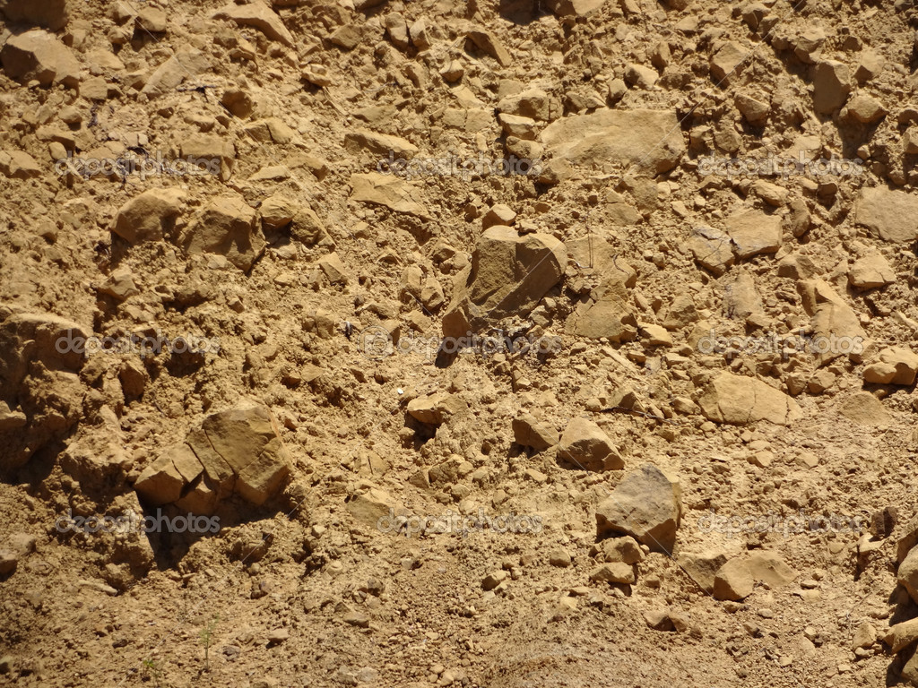 Dirt And Stone : Brown rocks and dirt wall — stock photo ericbvd