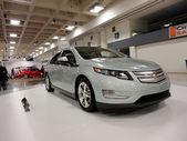 Plug-in Hybrid car the Chevy Volt on display — 图库照片