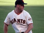 San Francisco Giants Closer Brian Wilson Warming up in Bullpen — Stock Photo
