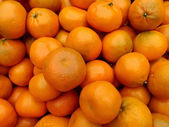 Tangerines for sale at farmers market — Stok fotoğraf