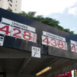 Expensive Gas Prices Display on side of roof — Stock Photo