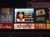Yankee Alex Rodriguez head shot and stats displayed on scoreboar — Stock Photo