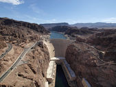 Colorado River and Hoover Dam — Stock Photo
