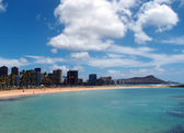 Magic Island Beach and Diamond Head — Stok fotoğraf