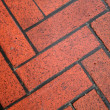 Stock Photo: Wet Red Brick Sidewalk