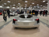 Back profile of Chevy Concept car the Stingray on display — Stock fotografie