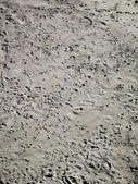 Lotes de pegadas na areia — Fotografia Stock
