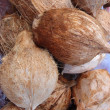 Stock Photo: Fresh Coconuts for sale at market
