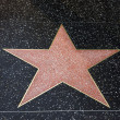 A blank star in Hollywood Walk of Fame — Stock Photo