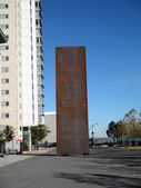 "Art piece ""Ballast"" by Richard Serra on the Mission Bay campus o — Stock Photo"
