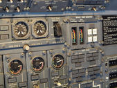 Jet aircraft cockpit Equipment — Stock Photo
