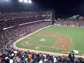 Giants batter stands set in batter box preparing for incoming p — Stock Photo