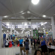 Постер, плакат: People explore booths dog expo