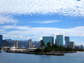 Kewalo Basin point and surrounding condos — Stock Photo