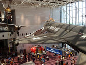 Aircrafts hang in the air at the National Air and Space museum i — Stock Photo