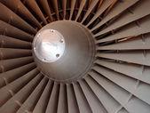 Jet engine fan — Stock Photo