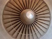 Jet engine fan — Stock fotografie