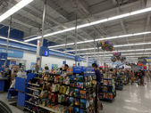 interior of WalMart department store Checkout aera — Stock Photo