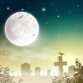 Mglisty cmentarz — Wektor stockowy