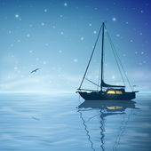 Sailing Boat — Vecteur