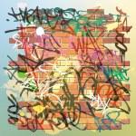 Graffiti Wall — Stock Vector
