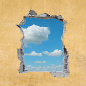 Hole in Wall — Stock Photo