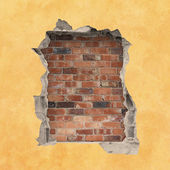 Hole in a Wall — Stock Photo