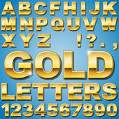 Gold Letters — Stock Vector