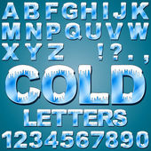 Ice Cold Letters — Stock Vector