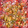 Background with Numbers — Stock Photo