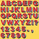3D Block Letters — Stock Vector