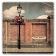 Red Brick Wall and Street Light — Stock Photo
