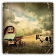 Stock Photo: Gypsy Wagon, Caravan