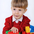 Child with constructor — Stock Photo