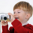 Boy with camera — Stock Photo