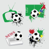 Football icons — Stock Vector