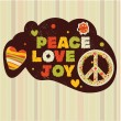 Peace, love, joy — Stock Vector