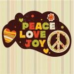 Peace, love, joy — Stock Vector