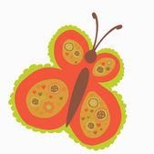 Retro butterfly — Stock Vector