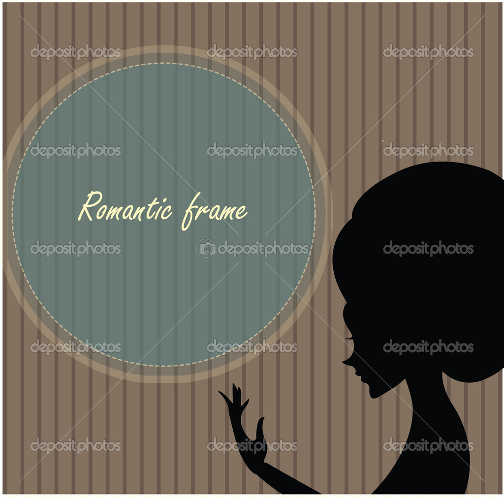 Romantic frame with girl — Stock Vector #17372655