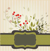 Retro-styled background with branch — Stock Vector