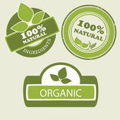 Organic food label — Stock Vector