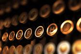 Klucze zabytkowe maszyny do pisania z bliska — Zdjęcie stockowe