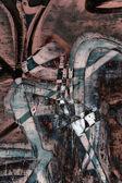 Bliska tło grunge graffiti — Zdjęcie stockowe