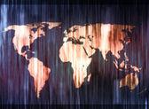 Turuncu ve mavi lekeli dünya haritası — Stok fotoğraf